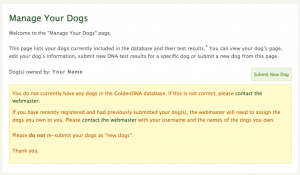 Screenshot - Manage Your Dogs